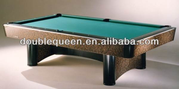 table billiards with green cloth and black corner