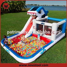 dolphin inflatable slide for pool
