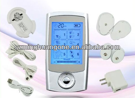 Colorful design Tens/Ems unit for body/health/fitness care massage device with CE,RoHS,FDA approval