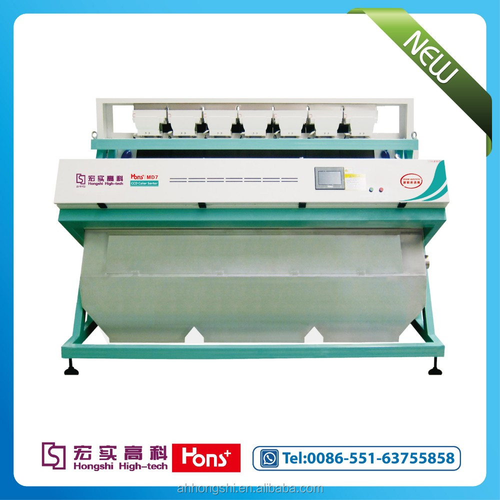 2016 new Led light 441 Channels CCD rice color sorters manufacturer in china