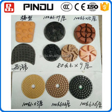 resin compound 3 step concrete granite polishing pads