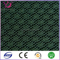 Polyester nylon spandex athletic garment/shoes mesh fabric