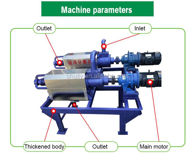 Farm waste manure dehydrator solid-liquid separator dewatering machine screw press
