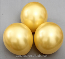 12inch gold and sliver latex balloons for merry christmas deraction latex baloon