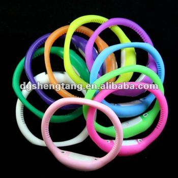 Cheapest 10 colors silicone watch wholesale (15/16/17/18/19cm)
