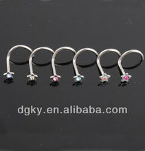 fancy nose ring jewelry/fashion nose studs