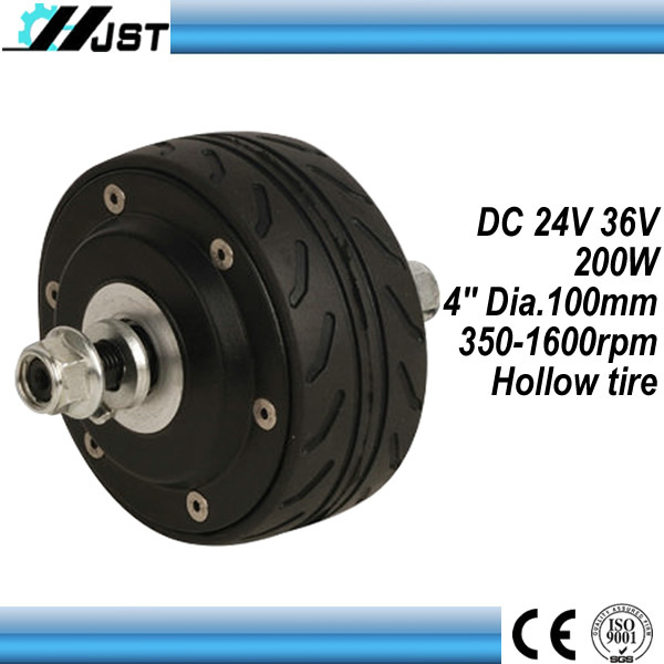 "high quality 4"" 4inch brushless gearless design brushless scooter hub motor"