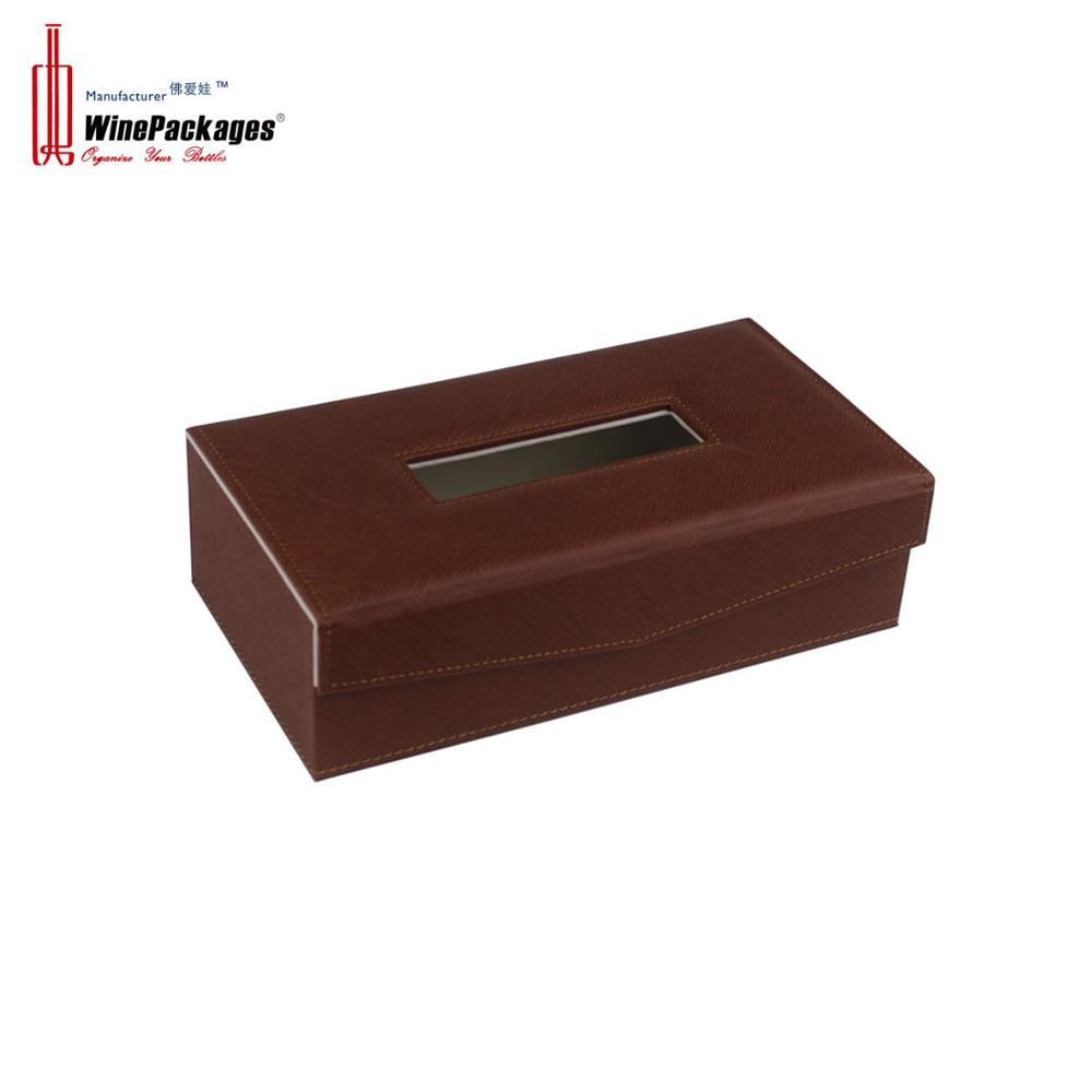 High Quality Office Supplier Leather Tissue Box