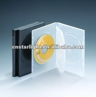14mm Black DVD Case for 4 disc with Double insert