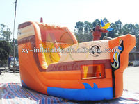 Fun time inflatable pirate ship slide for kids