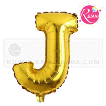 "Reians customized 32"" inch ballon golden letter characters J foil balloon stores party decoration Supplies (Accept OEM,ODM)"
