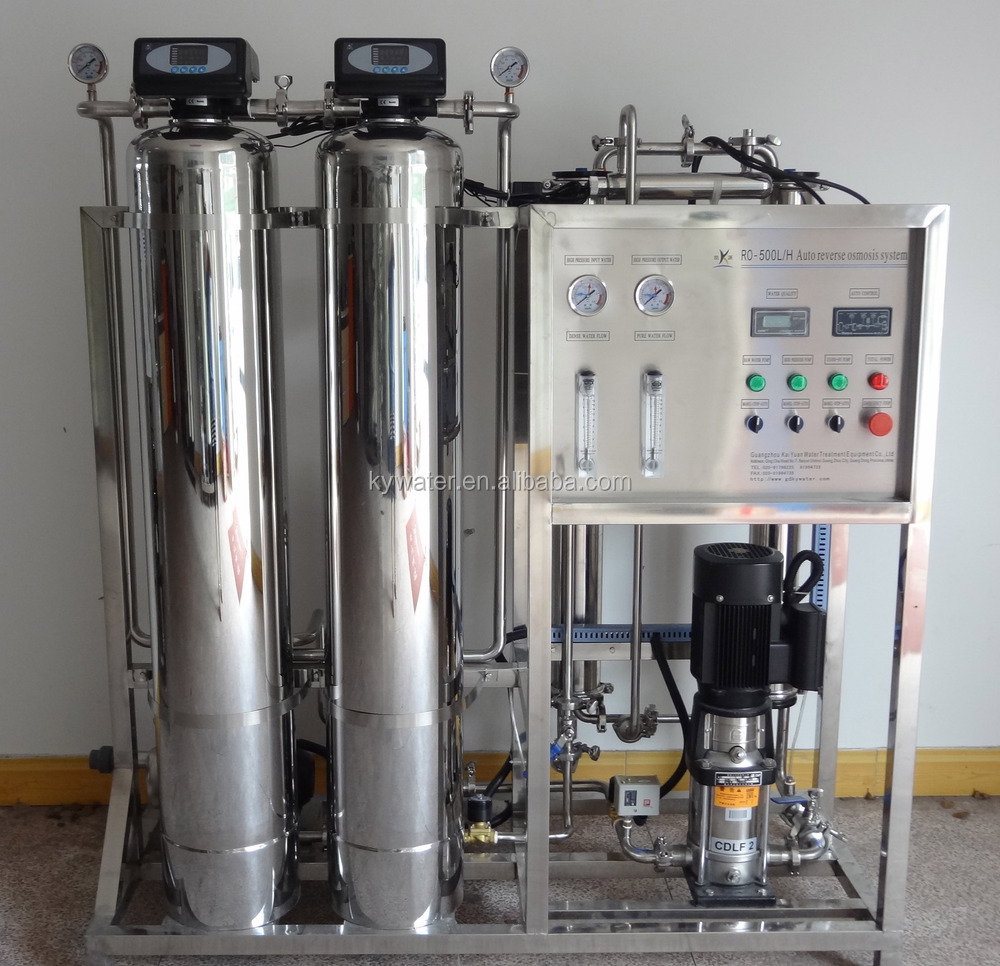 Factory direct sale CE approved reverse osmosis KYRO-500 drinking water making machine/mini water treatment plant manufacturers