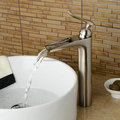 2016 New Modle Nickel Brushed Waterfall Bathroom Tap