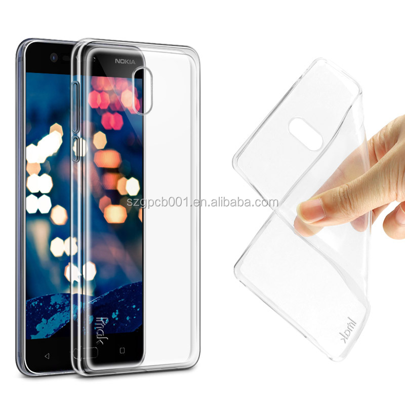 Quality IMAK Nature Transparent Soft TPU Case Back Cover For NOKIA 3 +Screen Protector Combo