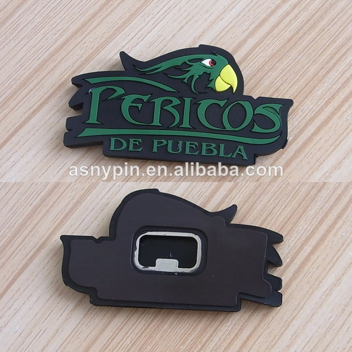 Tourist souvenir rubber 3D fridge magnet bottle opener