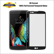 3D full cover 100% genuine tempered glass film screen protector guard for LG K10