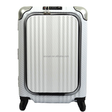 aluminum frame suitcase easy access pocket aluminum frame luggage