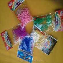 wholesale alibaba diy rainbow colorful silicone loom band kit and refill DIY rainbow band bracelet colorful loom band