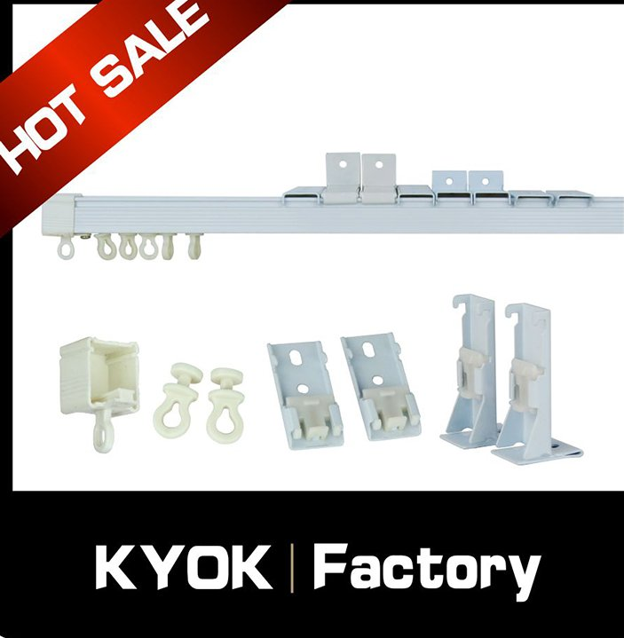 KYOK Smart home motorised curtain track/Aluminum alloy motorised curtain tracks/double curtain tracks accessories factory
