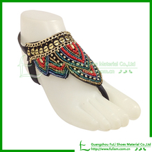 Beading Shoe Material For Ladies Shoes