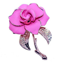 Newest Style Popular Zinc Alloy Flower Brooch