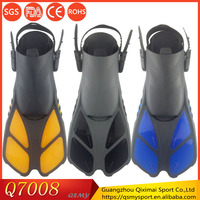 Guangzhou factory wholesale low moq high quality silicone rubber swimming training diving adults spearfishing fins
