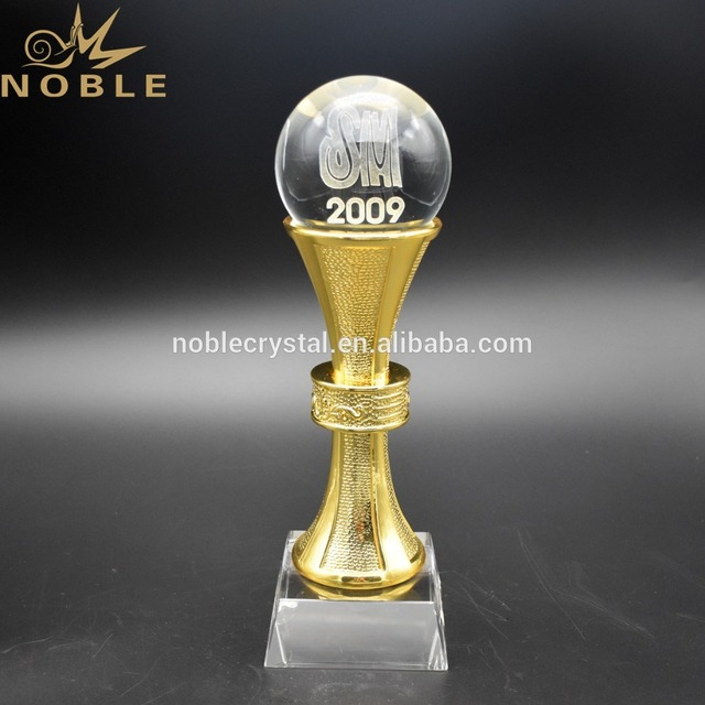 Personalized Gifts Crystal Sports Ball Trophy Awards