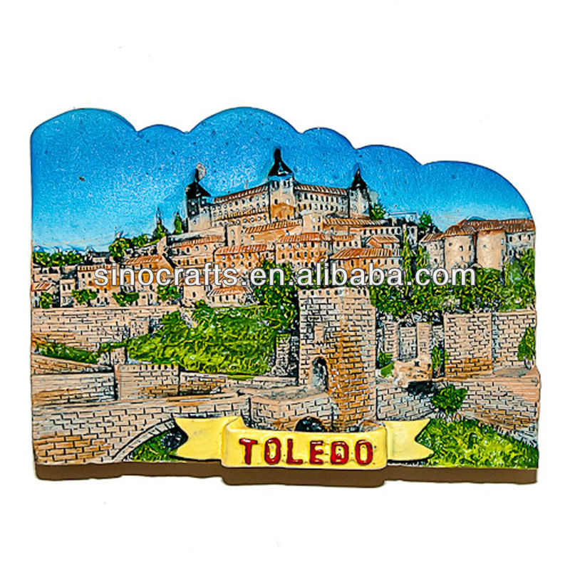 custom souvenir 3D Toledo spain fridge magnet
