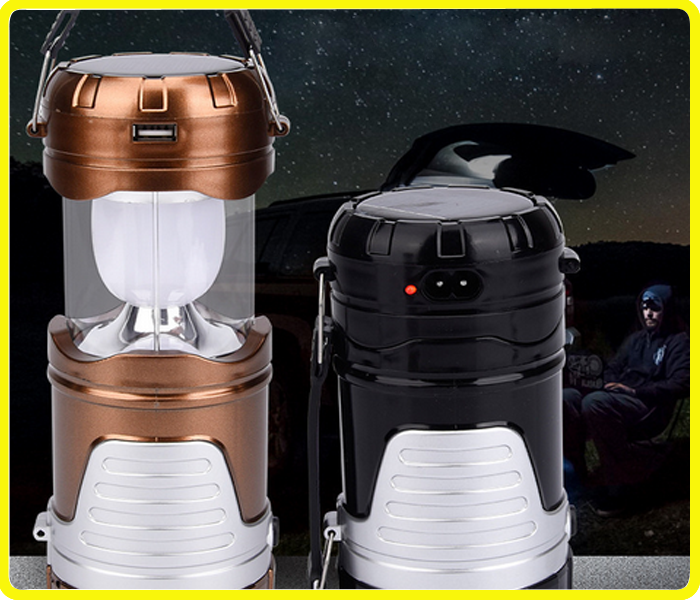 6 led tent lantern with mobile phone charger , usb li-ion battery operated lantern lights , hot sale camping solar lights
