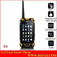 S9 waterproof dustproof shockproof outdoor rugged cell phone with walkie talkie bluetooth ptt gps