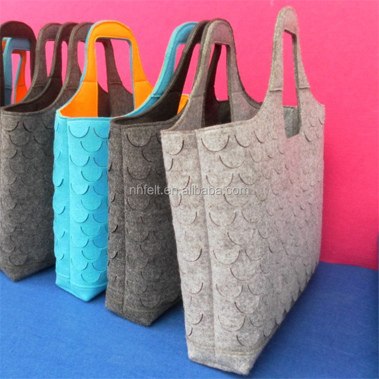 100% wool Felt Lady fashion bags lady fancy bags