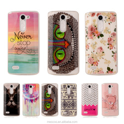 Cute Cartoon Soft TPU Silicone Transparent Phone Case For LG Optimus L Bello D331 D335 D337 Printed Plastic Protective Cover