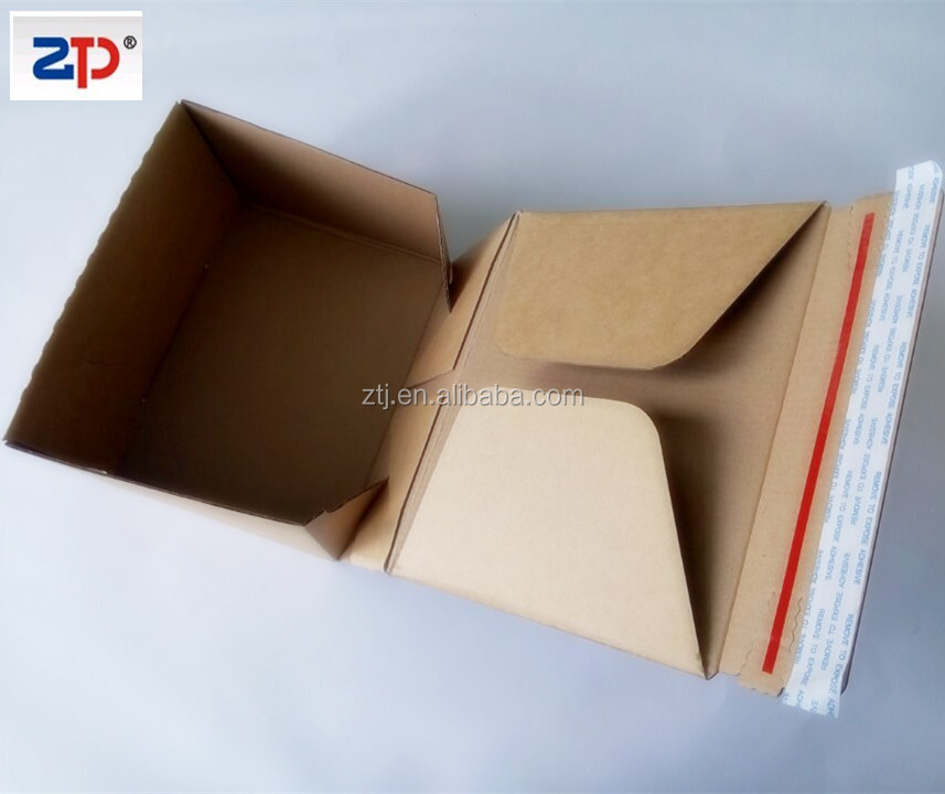 Self seal cardboard brown Open Top Box