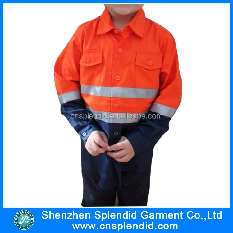 Children clothing 2016 100% cotton safety orange shirt