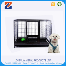 Custom made commercial large dog cage with wheels