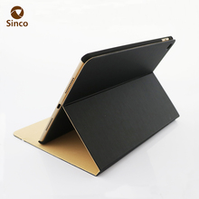 minimalism style shockproof dustproof case back stand pu leather case for ipad1/2/3/4