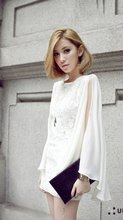 Sexy slim formal batwing off shoulder lace chiffon lady dress,women clothing,apparel