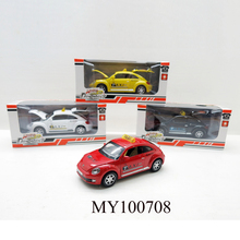 4colors metal Pull Back Beetle Car customized Die Cast Model taxi Car Toy Can Open Doors