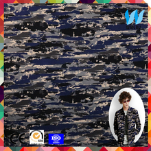 camouflage digital printed abstraction printed 55% cotton and 45% polyester fabric
