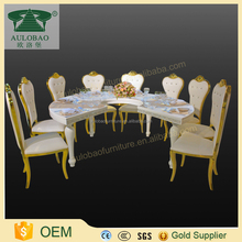 Luxury European style dining table and chair with 8 seate