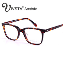IVSTA Oliver Peoples Real Acetate Glasses Men Optical Frames Eyeglasses Brand Logo Spectacle Johnny Depp Tortoise Demi 5031 5186