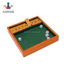 new design Trademark dice Shut The Box Game, travel game set