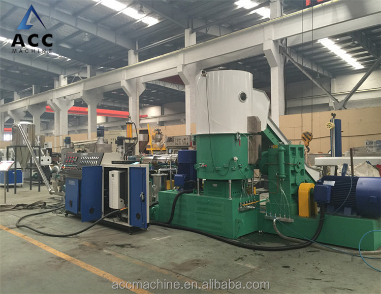 PP/PE double stage granulator machine/recycle plastic pelleting line