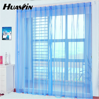 voile fabric simple solid color voile curtain for super market