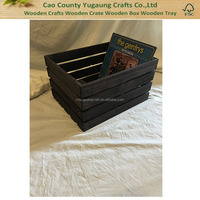 Vintage Stained Rustic Wood Crate