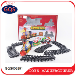 Electric smoking Christmas railcar Train toys with light music for kids