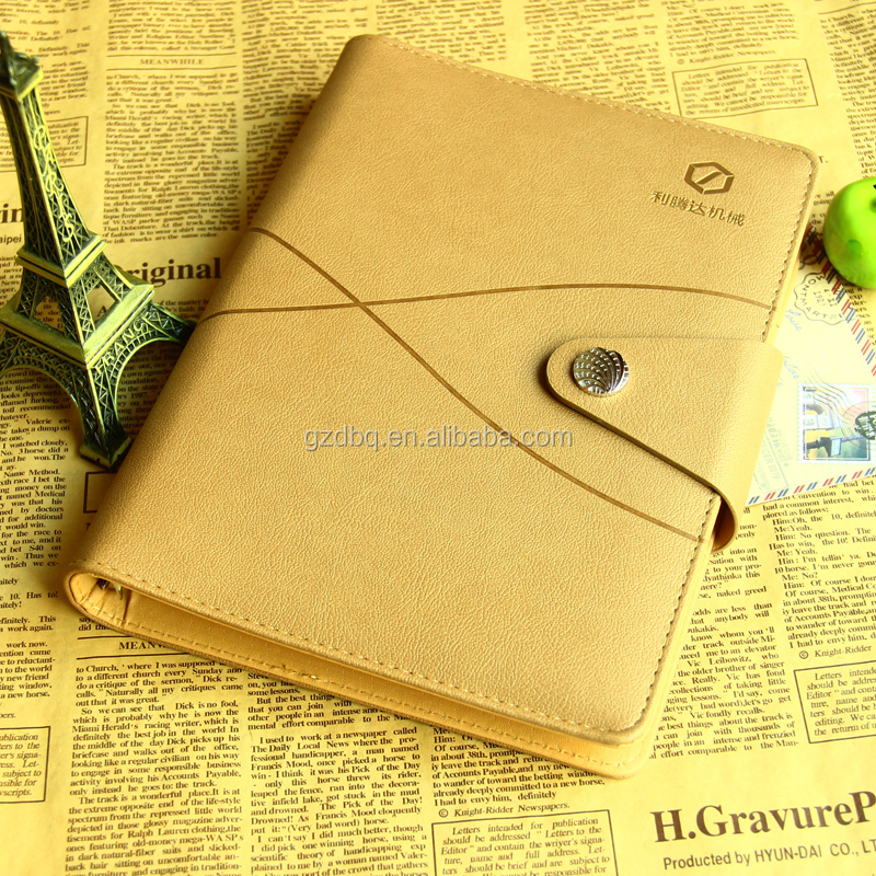 PU Cover Diaries business notebook with magnetic clasp closure