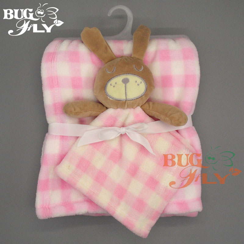 Lovely printed flannel security blanket baby