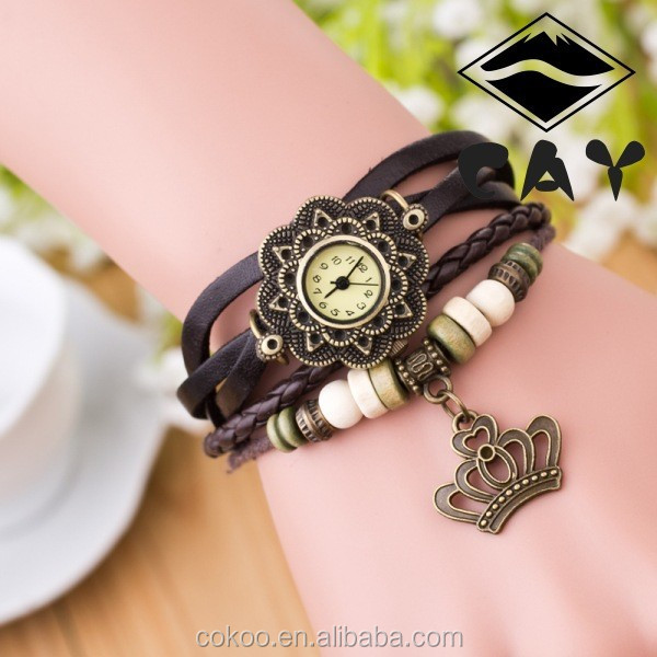 2015 new popular wrist watch vintage women wristwatches vogue leather quartz watch hot brand name gift ladies watches