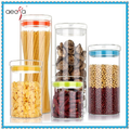 Cylinder Storage Jar with Glass Lid Borosilicate Glass Canister